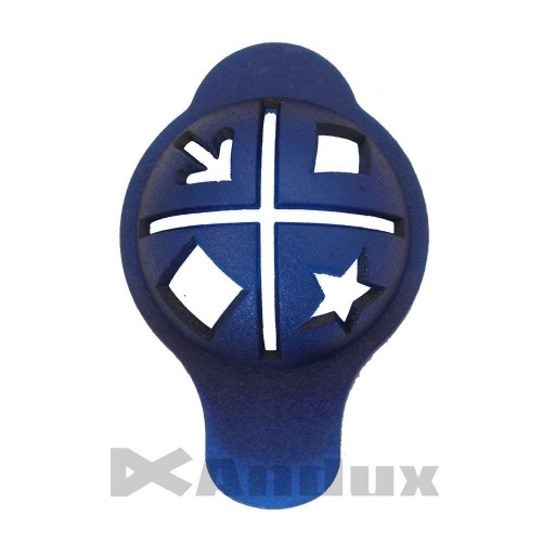Golf Ball Linear Line Marker Template Swing Putting Drawing Alignment Tool blue