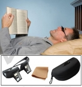 Periscope Glasses w case cloth easy Lie down on the bed for reading book LR-03