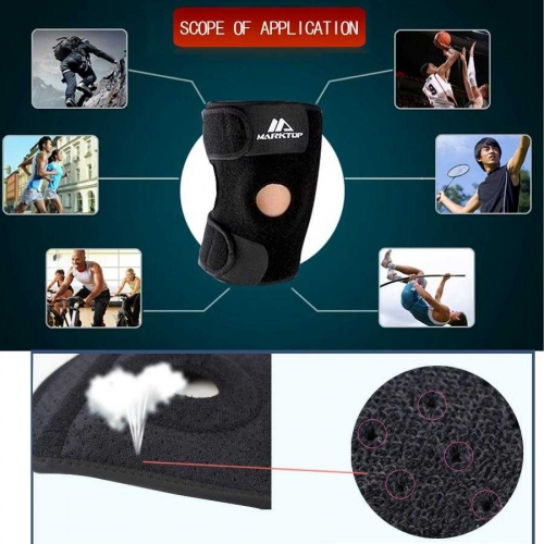 Andux Patella Open Breathable Knee Support Black HX-01