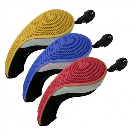 3 Pack Andux Golf Hybrid Club Head Covers Interchangeable No. Tag MT/hy09 Red,Yellow, Blue