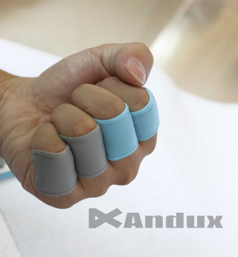 Golf finger Band strong toe Silicon Support Sleeve Protector Grip blue 8pcs/set HSZ/01