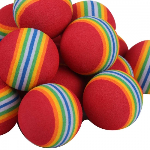 40 GOLF PRACTICE BALLS RAINBOW Sponge FOAM BALL TRAINING INDOOR red