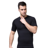 ZEROBODYS Men's Moisture-wicking shirt outdoor Sporting SS-M06 Black