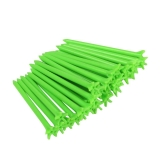 Andux Golf No Friction 5 Prong Tees 100 Pack Green 3 1/8