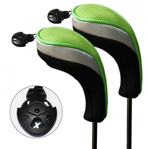 Andux Golf Hybrid Club Head Covers Interchangeable No.Tag MT/hy05 Black/Green