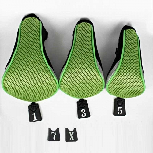 Andux Golf Driver Wood Head Covers Interchangeable No.Tag 3 of Set Mt/mg05 Green