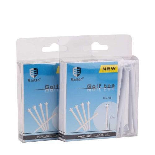 "Golf tees 3 prong plastic tee white 50 pack 3 1/4"" NEW"
