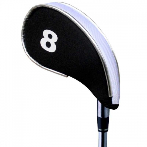 Andux New Design Golf Iron Head Covers with Zipper 10pcs/set MT/YB03 Black/white