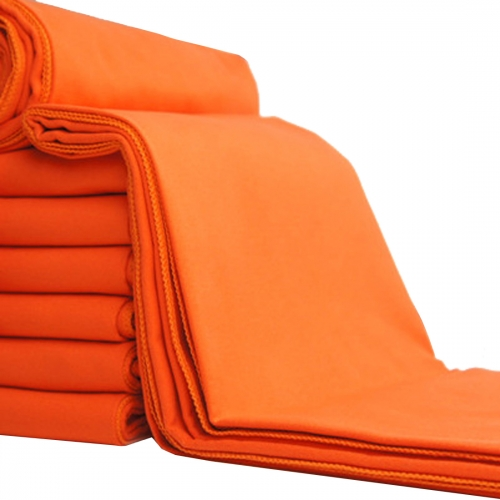Andux Antibacterial microfiber quick-drying sport towel with carry bag sell separately in four size MJ-02 orange