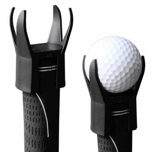 Andux Golf Ball Pick up Tool 4 Prongs Attachable Retriever for Putter Grip Qj-2