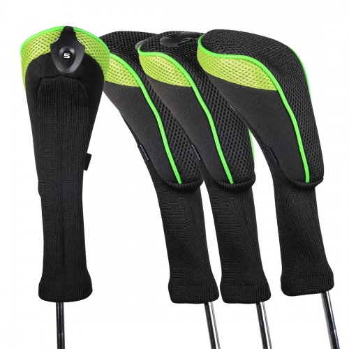 Andux 4 Pack Long Neck Golf Hybrid Club Head Covers Interchangeable No. Tag CTMT-01-4