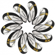 Taylormade Rbladez Golf Iron head Covers 10pcs/set black/white MT-T13