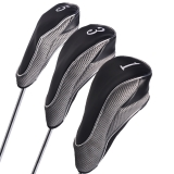 Andux Golf Driver Wood Head Covers with Velcro or Zipper Set of 3