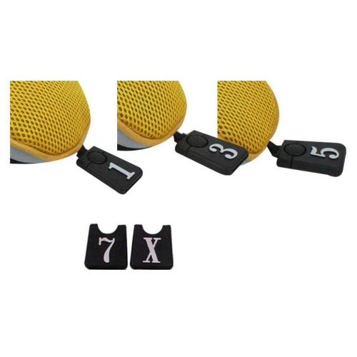 Andux Golf Club Head Cover Set Interchangeable No. Tag (3 Hybrid Cover+3 Wood Cover) MT/ZH07 Yellow