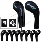 Taylormade Number Print Golf Iron Covers with Zipper Long Neck 10pcs/set Black Mt/TL01