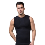 ZEROBODYS Men's Comfortable Moisture-wicking Body Shaper Sporting Vest Cool-dry SS-M05 Black