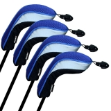 Andux Golf Hybrid Club Head Covers Interchangeable No.Tag MT/hy04 Black/Blue
