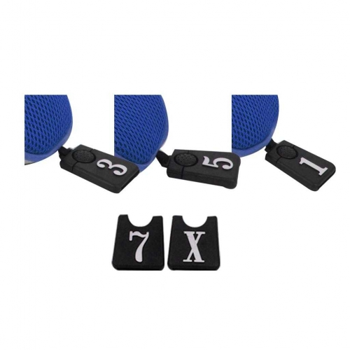 Andux Golf Club Head Cover Set Interchangeable No. Tag (3 Hybrid Cover+3 Wood Cover) MT/ZH03 Blue