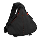 DSLR/SLR Triangle Sling Camera Backpack Black w/Quick Bilateral Zippers XJ/B01