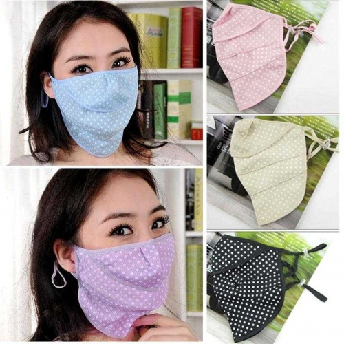 Golf Uv-blocking Sports Wear Cute Dot Mask Protection to the Neck Face kz-02