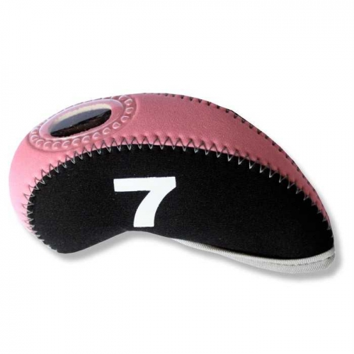 Andux Golf Iron Head covers 10pcs black pink MT/S05