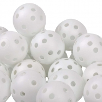 40 golf plastic practice balls air flow ball golf swing trainer aid white