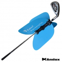GOLF SWING TRAINER PRACTICE AIDS MAGIC FAN PINWHEEL removable on club BLUE
