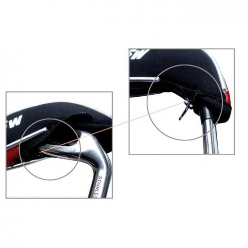 Andux New Design Golf Iron Head Covers with Zipper 10pcs/set MT/YB02 Black/red