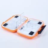 Andux Waterproof Multiple Function Fly Box Two Side Plastic Fly Fishing FDH-08 Orange