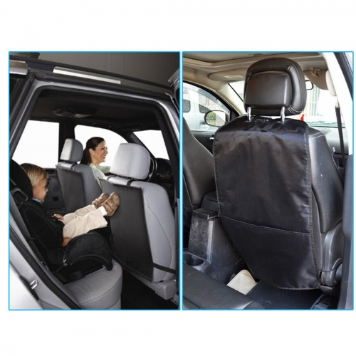 Andux Land Universal Kick Mats - Extra Large Car Seat Back Protector, Protective Back Seat Covers for Children QC/FTD01
