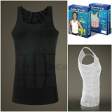 ZEROBODYS Men's Shaper Slimming Undershirt T-shirt Elastic Body Sculpting Vest Ssy-1 black