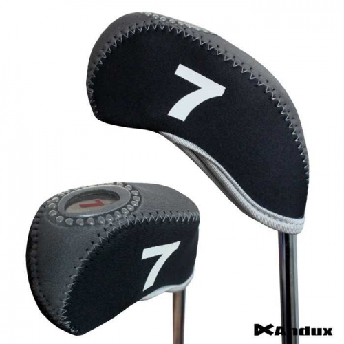 10pcs/set neoprene Golf club iron head Covers cover black/grey MT/S10